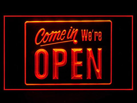 Come In We're Open LED Sign