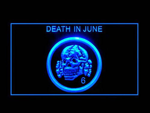 Death in June LED Sign - Blue - TheLedHeroes