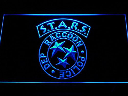 Biohazard Stars RPD Resident Evil LED Sign - Blue - TheLedHeroes