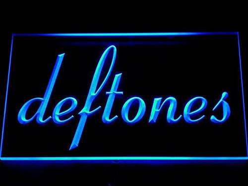 deftones Punk Music Bar Beer LED Sign - Blue - TheLedHeroes