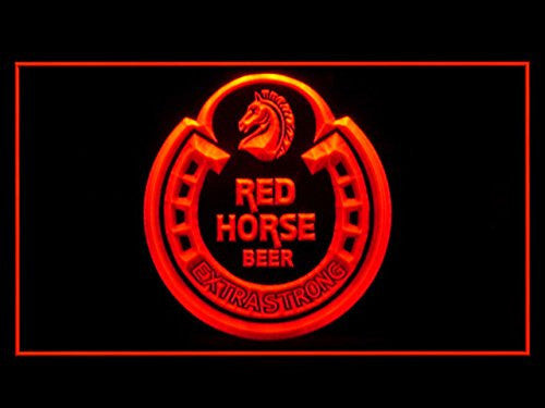 Red Horse Beer LED Sign - Red - TheLedHeroes