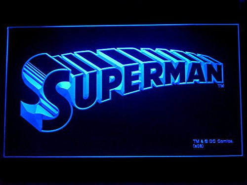 Superman LED Sign - Blue - TheLedHeroes
