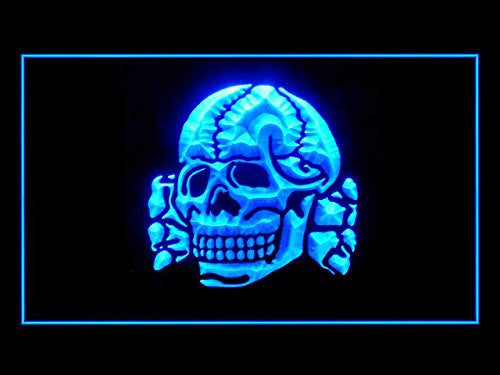Totenkopf LED Sign - Blue - TheLedHeroes