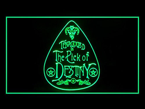 Pick Of Destiny Tenacious LED Sign - Green - TheLedHeroes