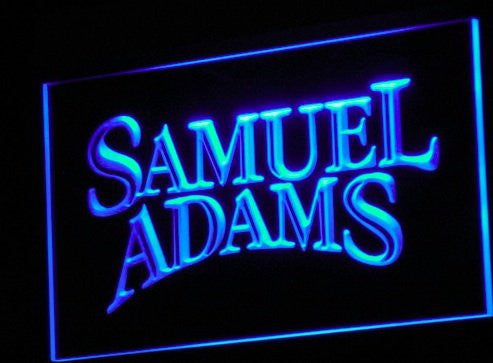 Samuel Adams Beer LED Sign - Blue - TheLedHeroes