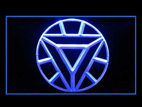 ARC Reactor Iron Man LED Sign - Blue - TheLedHeroes