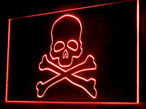 Death Head Skull LED Sign - Red - TheLedHeroes
