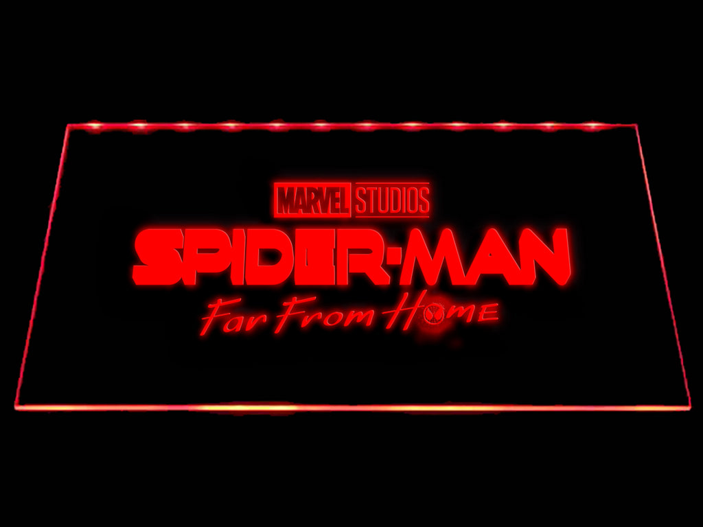 FREE Spider-Man Far From Home LED Sign - Red - TheLedHeroes