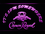 FREE Crown Royal It's 5pm Somewhere LED Sign - Purple - TheLedHeroes