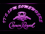 Crown Royal It's 5pm Somewhere LED Neon Sign Electrical - Purple - TheLedHeroes