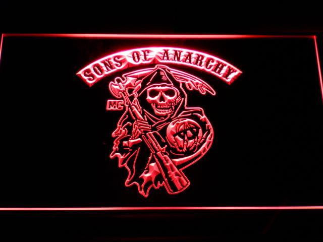 Sons of Anarchy LED Sign - Red - TheLedHeroes