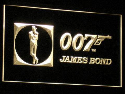 007 James Bond LED Neon Sign USB - Yellow - TheLedHeroes