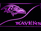 Baltimore Ravens (5) LED Neon Sign Electrical - Purple - TheLedHeroes