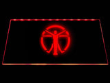 Fallout the Institute Flag LED Sign - Red - TheLedHeroes