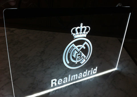 FREE Real Madrid LED Sign - White - TheLedHeroes