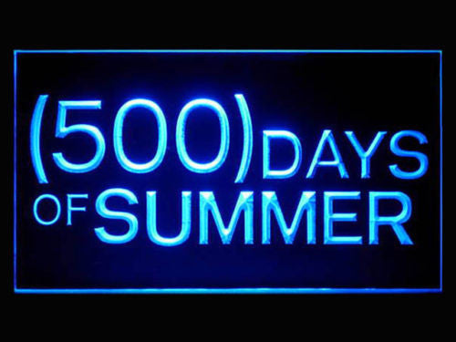500 Summer Days LED Sign - Blue - TheLedHeroes