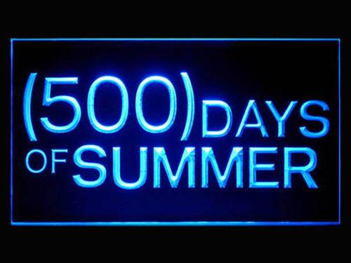 500 Summer Days LED Neon Sign USB - Blue - TheLedHeroes