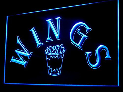 Wings Shop LED Sign - Blue - TheLedHeroes