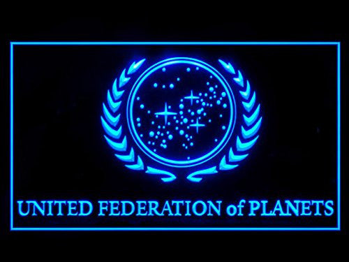 Star Trek United Federation of Planets LED Sign - Blue - TheLedHeroes