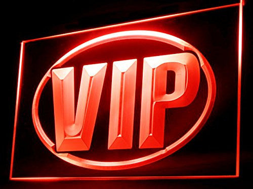 VIP LED Sign - Red - TheLedHeroes
