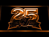 New Jersey Devils 25th Anniversary LED Neon Sign USB - Orange - TheLedHeroes