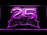 New Jersey Devils 25th Anniversary LED Neon Sign USB - Purple - TheLedHeroes