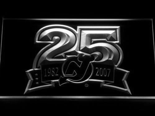New Jersey Devils 25th Anniversary LED Neon Sign USB - White - TheLedHeroes