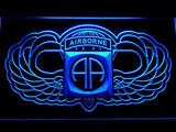 82nd Airborne Wings Army LED Sign - Blue - TheLedHeroes
