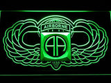 82nd Airborne Wings Army LED Sign - Green - TheLedHeroes