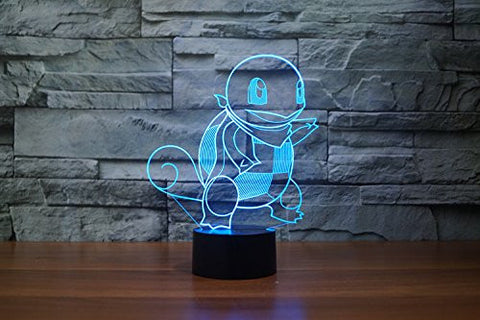 Squirtle Pokemon 3D LED LAMP -  - TheLedHeroes