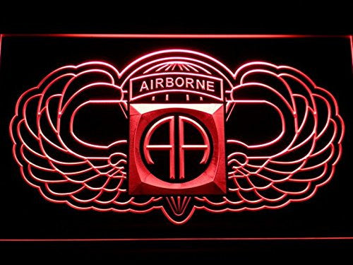 82nd Airborne Wings Army LED Sign - Red - TheLedHeroes