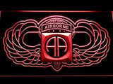 82nd Airborne Wings Army LED Neon Sign USB - Red - TheLedHeroes