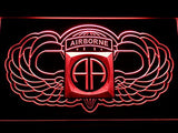FREE 82nd Airborne Wings Army LED Sign - Red - TheLedHeroes