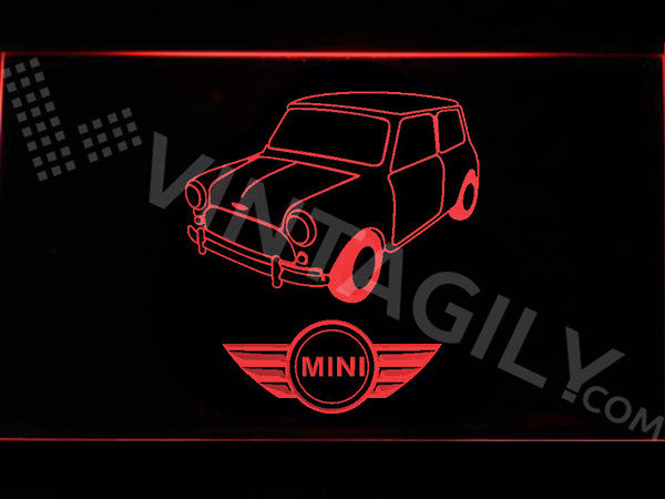 FREE Mini Cooper Classic LED Sign - Red - TheLedHeroes