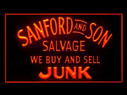 Sanford and Son Salvage Buy Sell Junk LED Neon Sign On/Off Switch 7 Colors