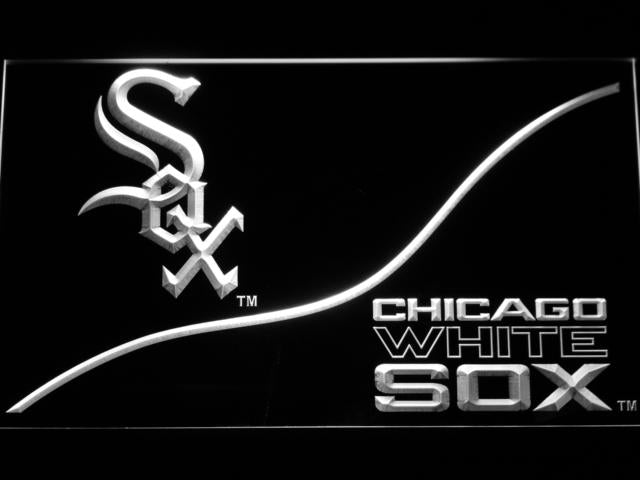Chicago White Sox (4) LED Neon Sign USB - White - TheLedHeroes