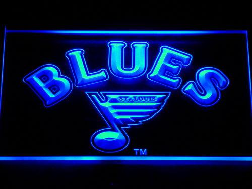 St. Louis Blues (2) LED Neon Sign USB - Blue - TheLedHeroes