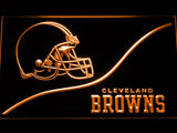 Cleveland Browns Backers Worldwide LED Neon Sign USB - Orange - TheLedHeroes