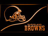 FREE Cleveland Browns Backers Worldwide LED Sign - Orange - TheLedHeroes