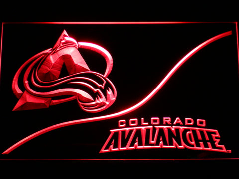 FREE Colorado Avalanche (3) LED Sign - Red - TheLedHeroes
