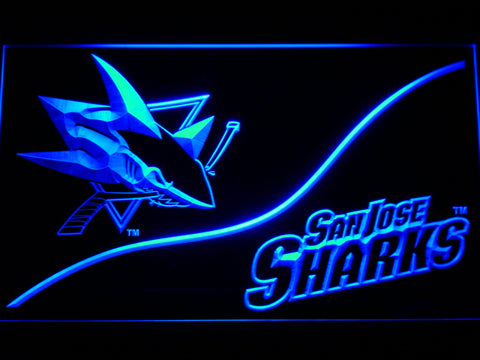 FREE San Jose Sharks (3) LED Sign - Blue - TheLedHeroes