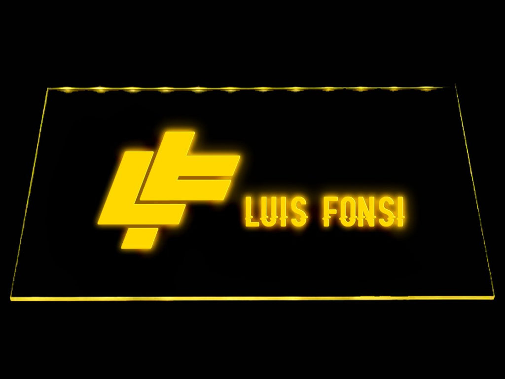 Luis Fonsi LED Neon Sign USB - Yellow - TheLedHeroes