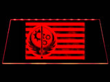 Fallout Brotherhood of Steel Flag LED Sign - Red - TheLedHeroes