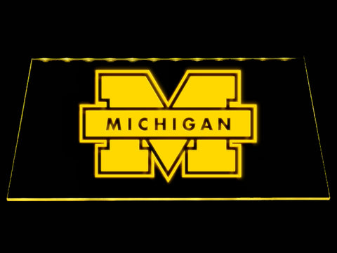 FREE Michigan Wolverines LED Sign - Yellow - TheLedHeroes