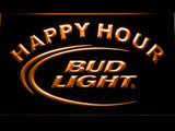 Bud Light Happy Hour LED Neon Sign Electrical - Orange - TheLedHeroes