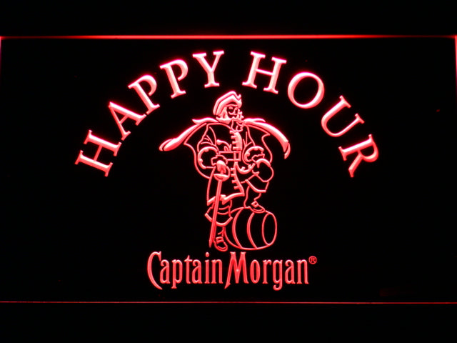 FREE Captain Morgan Happy Hour LED Sign - Red - TheLedHeroes