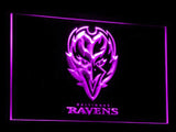 Baltimore Ravens LED Neon Sign USB - Purple - TheLedHeroes