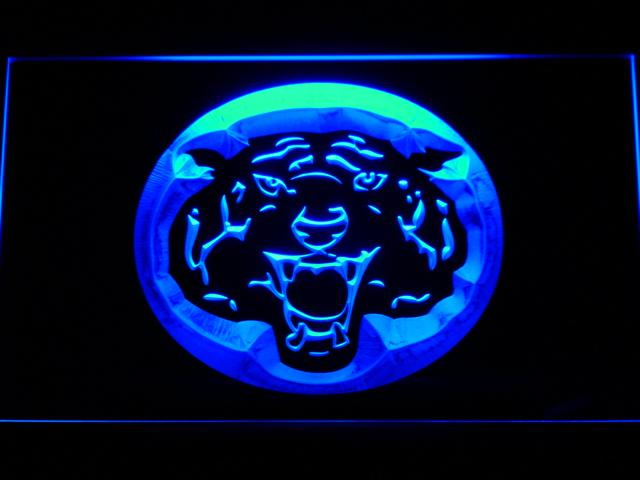 Detroit Tigers (11) LED Neon Sign USB - Blue - TheLedHeroes