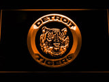 Detroit Tigers (12) LED Neon Sign USB - Orange - TheLedHeroes