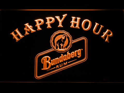 Bundaberg Happy Hour LED Sign - Orange - TheLedHeroes